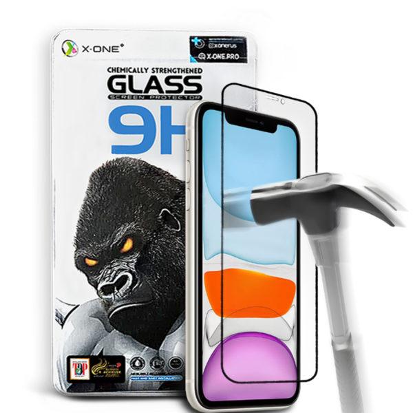Противоударное защитное стекло для iPhone 11 X-ONE Gorilla Glass 9H на экран (575)