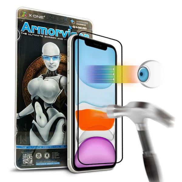 Противоударная защитная бронепленка для iPhone 11 X-ONE Armorvisor Coverage на экран (841)