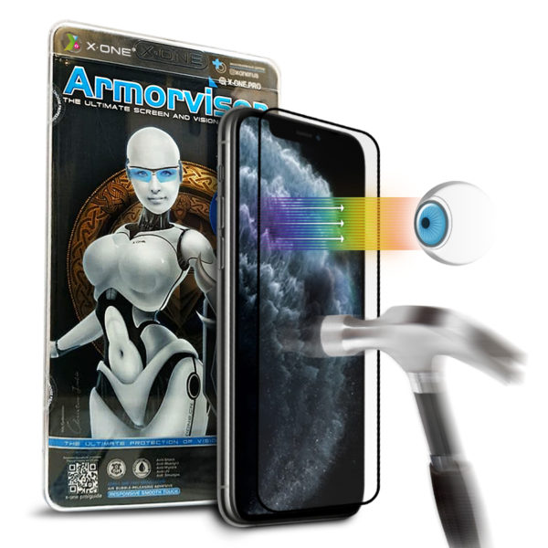 Противоударная защитная бронепленка для iPhone 11 Pro X-ONE Armorvisor Coverage на экран (842)