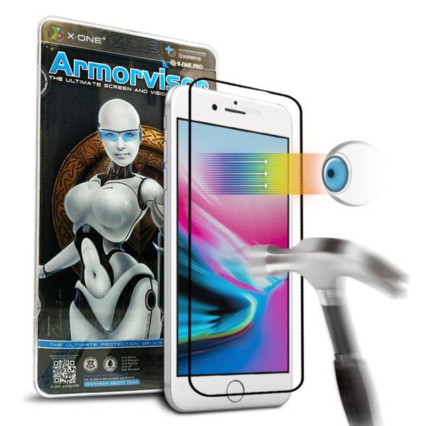 Противоударная защитная бронепленка для iPhone 7/8 White  X-ONE Armorvisor Coverage на экран (846)