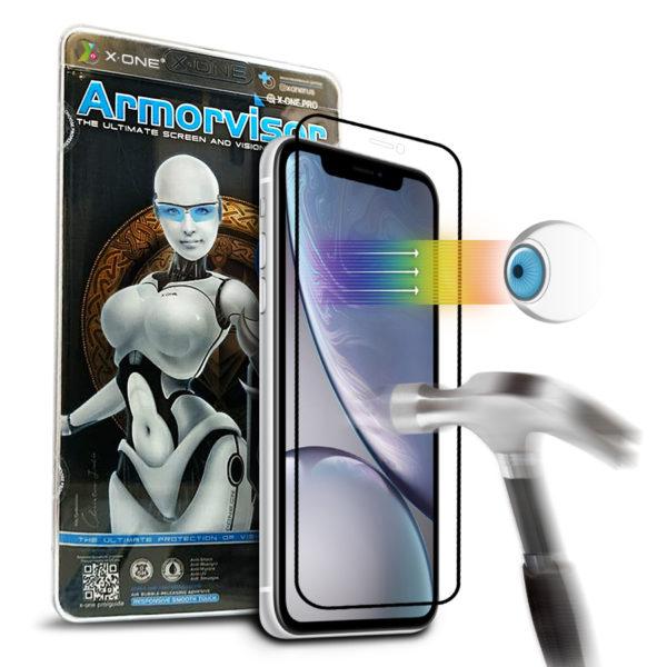 Противоударная защитная бронепленка для iPhone XR  X-ONE Armorvisor Coverage на экран (851)