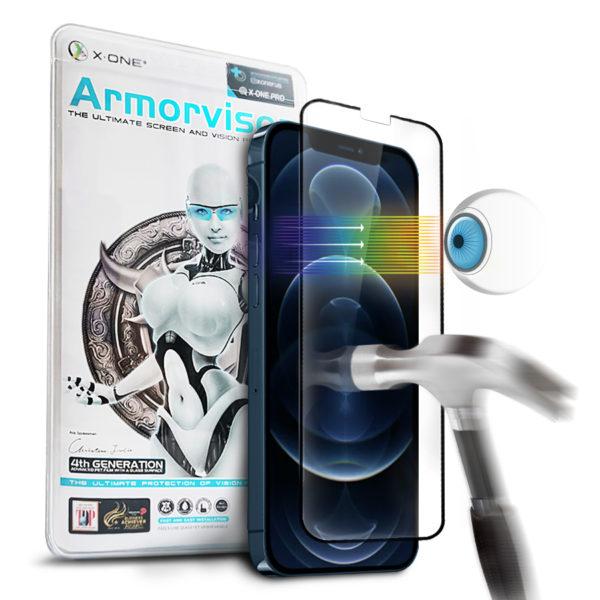 Противоударная защитная бронепленка для iPhone 12/12 Pro X-ONE Armorvisor Coverage 7H на экран (711)