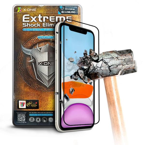 Противоударная защитная бронепленка для iPhone 11 X-ONE Extreme Coverage на экран (228)