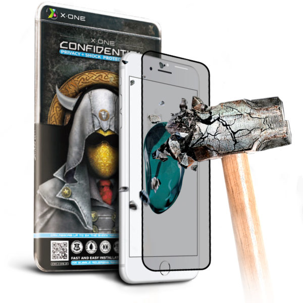 Противоударная защитная бронепленка для iPhone 7/8 Confidential - Антишпион, на экран White (71)