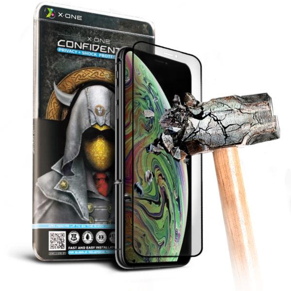Противоударная защитная бронепленка для iPhone XS Max Confidential - Антишпион, на экран (76)