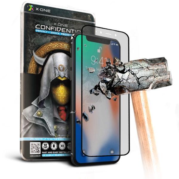 Противоударная защитная бронепленка для iPhone X Confidential - Антишпион, на экран (73)