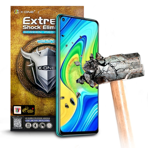 Противоударная защитная бронепленка для Xiaomi Redmi Note 9 X-ONE Extreme на экран (607)